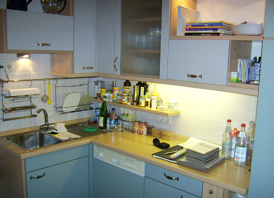 Eine Küche zieht um